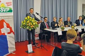 Schütz trifft SVP Vorsitzenden Toni Brunner in Udligswil
