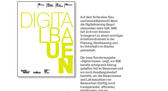 """Schütz übernimmt Redaktionsleitung """"Digital Bauen"""" (Schweiz)"""